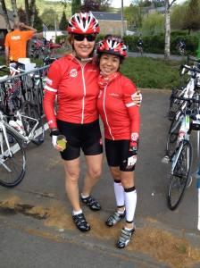 Ma nouvelle meilleure amie Jackie, à Liège, pour la course de 85 km