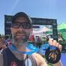 Christian et sa première médaille de triathlon