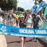 Anne à l'arrivée du triathlon Ocean Lava.