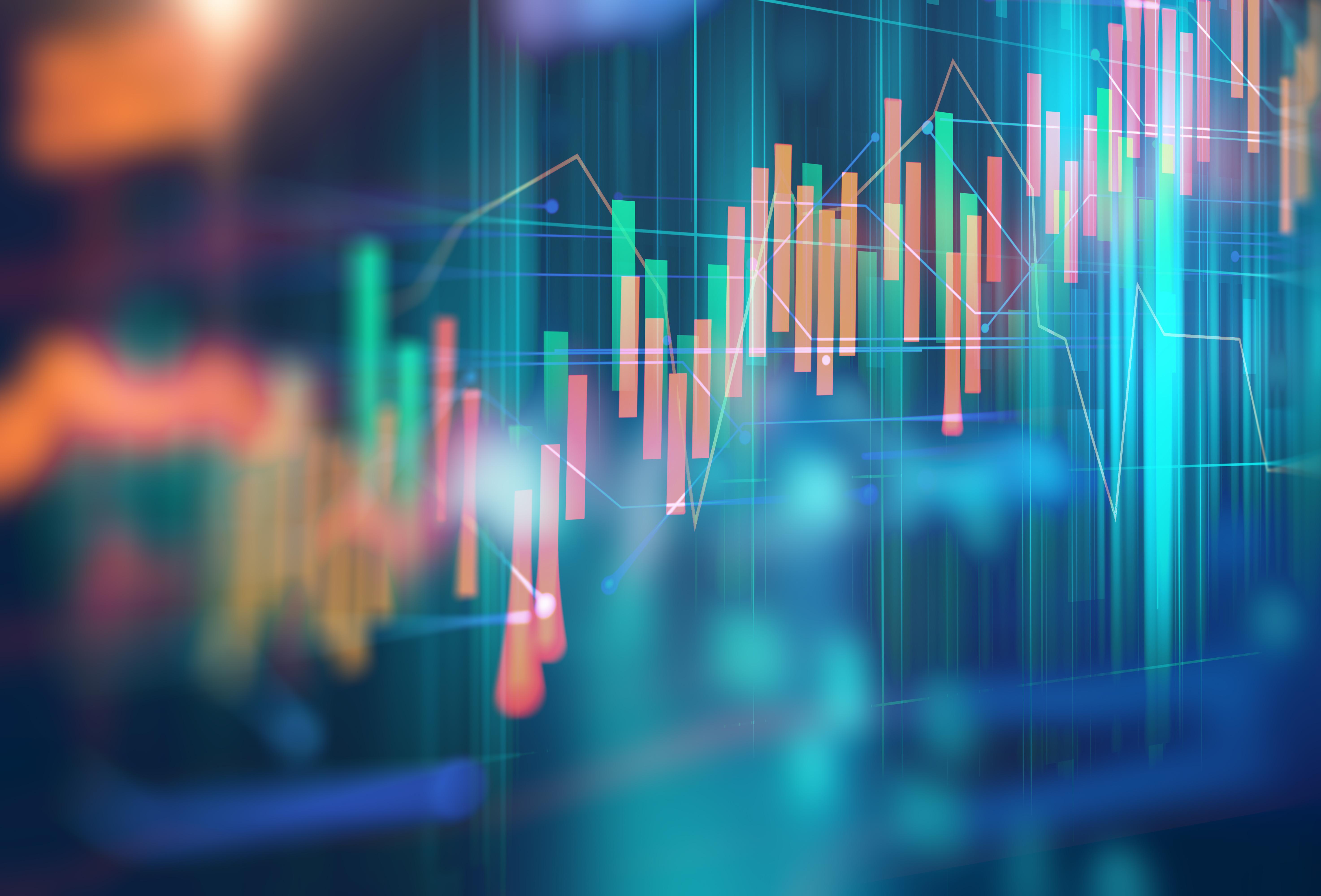 Avantages de la responsabilité sociale d'entreprise : graphique financier technique sur fond technologique